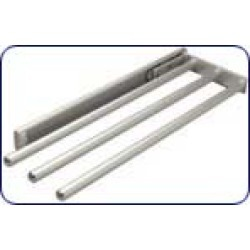 Hafele 3 Rail Pull-Out Towel Rack, Silver Anodized