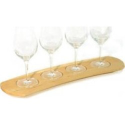 JK Adams - Wine Tasting Flight, 17 1/2 W x 4 1/2 D, Maple found on Bargain Bro Philippines from Kitchen Source for $75.00