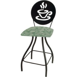 Grace Collection Coffee Cup Silhouette 24 Seat Height Swivel Bar Stool found on Bargain Bro India from Kitchen Source for $260.55