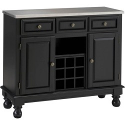 Mix and Match Premium Large Buffet, Stainless Steel Top on Black Server