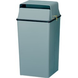 Witt Security trash can in light gray, 24 gallons found on Bargain Bro India from Kitchen Source for $205.95