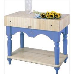 John Boos Calais Work Table, Sporty Blue