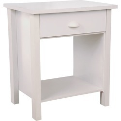American Furnishings Nouvelle Night Stand, 24-3/4 W x 21-1/4 D  x 16 H, White