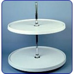 Rev-A-Shelf 20 inch Diameter Full Circle 2 Shelf Lazy Susan w/ Almond Polymer Trays found on Bargain Bro Philippines from Kitchen Source for $138.98