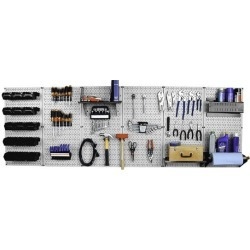 Master Metal Pegboard Workbench Kit, 6 Panel Kit, Gray found on Bargain Bro India from Kitchen Source for $342.34