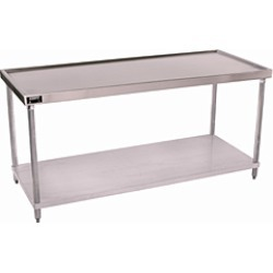 Aero Stainless Steel  Work Table w/ Gal. Steel Shelf found on Bargain Bro India from Kitchen Source for $1907.40