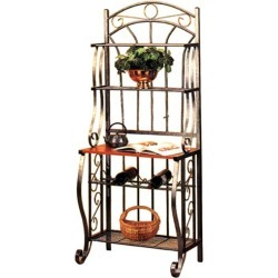 Old Dutch - Scroll Bakers Rack - Pewter