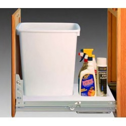 Fulterer Easy Close Single Waste Can Pull-Out System, White, without cans found on Bargain Bro Philippines from Kitchen Source for $229.55