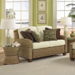 Home Styles Cabana Banana Love Seat, Honey Oak