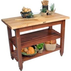 John Boos 60 Kitchen Island with Shelves and Two Drawers found on Bargain Bro India from Kitchen Source for $1397.00