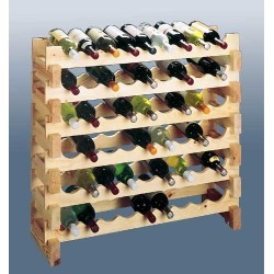 Wine Cellar Innovations Stackable Scallop Wine Rack, 18 Bottle Capactiy, 34-1/2 W x 11-13/16 D x 11-5/8 H found on Bargain Bro Philippines from Kitchen Source for $62.44