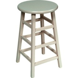 John Boos - Backless Wood Stool, 24 H, Sage Green found on Bargain Bro Philippines from Kitchen Source for $119.95