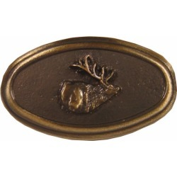Buck Snort Hardware Elk Oval, Antique Copper found on Bargain Bro India from Kitchen Source for $15.24