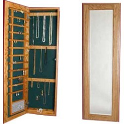 Jewelry Solutions Oak or Painted Cabinet w/ magnetic lock found on Bargain Bro India from Kitchen Source for $536.42
