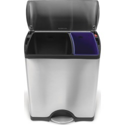 simplehuman<font size=2><SPAN style=letter-spacing:-0.25in> </span><sup>&REG;</sup></font> Rectangular Recycler, 8/4 Gallons, Br
