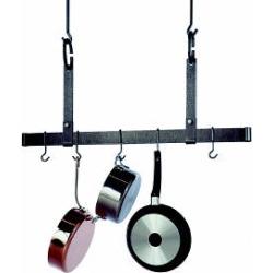 Enclume Hammered Steel Ceiling Bar Kitchen Pot Rack 54 inch