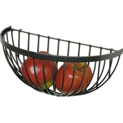 Enclume Wire Fruit Basket in Hammered Steel