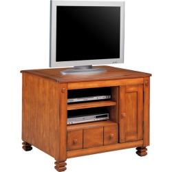 Altra Furniture Rustic Shaker TV Stand, 31-1/2 W x 23-1/2 D x 23-1/2 H, Oak