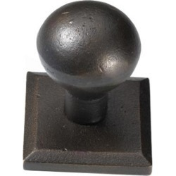 Hamilton Solid Brass 1-1/4 inch Node Knob with 1-11/16 inch Square Base Plate, Special Order Finish: Polished Brass
