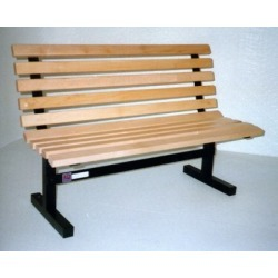 John Boos Convenience Bench w/back, 60in, Maple