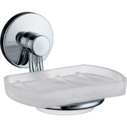 Smedbo Studio Polished Chrome Holder with Frosted Glass Soap Dish 4+ inch found on Bargain Bro Philippines from Kitchen Source for $64.80