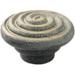 Schaub Rustica Collection, 1-3/8 Vibra Pewter Swirl Knob