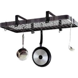 Enclume Copper Rectangular Low Ceiling Kitchen Pot Rack