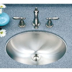 Enex Houzer  Club Lavatory Series Undermount Lavatory Oval Bowl Sink found on Bargain Bro Philippines from Kitchen Source for $172.07