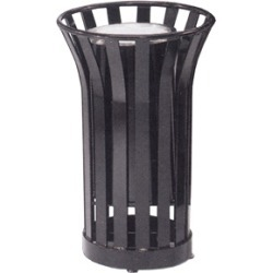 United Receptacle 36 gallon steel freestanding trash can with liner found on Bargain Bro from Kitchen Source for $966.90