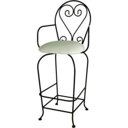 Grace French Quarter Bar Stool with Fabric Seat 24 inch found on Bargain Bro India from Kitchen Source for $285.76