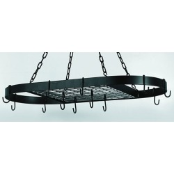 Old Dutch Oval Hanging Pot Rack, Matte Black