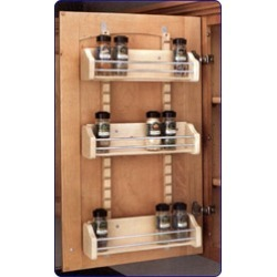 Rev-A-Shelf Adjustable Door Mount Spice Rack for 21 inch Cabinet