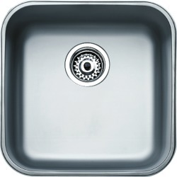 Teka Sinks Undermount Series Stainless Steel Single Bowl Sink, 16-1/4 W x 16-1/4 D x 7 H found on Bargain Bro India from Kitchen Source for $186.25