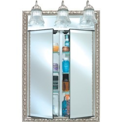 Afina Signature Collection 31inchWx40inchH Group A Double Door Medicine Cabinet with Traditional Light found on Bargain Bro India from Kitchen Source for $1224.67