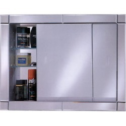 Afina Signature Collection, Gliding Door, 2 Glass Shelves, Surface Mount, Meridian Gold with Gold Caps, Group E, 27 inch x 21 in found on Bargain Bro Philippines from Kitchen Source for $685.10