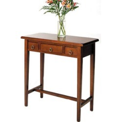 Winsome Wood Hall Table with 3 Drawers in Walnut Finish  28.5 inch x 14.5 inch x 29 inch