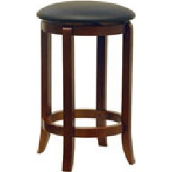 Winsome Wood 24 Black Swivel Stools in Set of 2 16W x 24-33/100H
