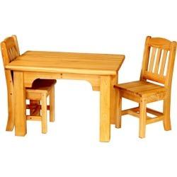 Bradley Brand Furniture Cypress Kids Table & 2 Chair Set, Mocha Brown