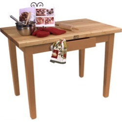 John Boos 60 Wide Classic Country Worktable, Natural Maple found on Bargain Bro India from Kitchen Source for $759.00