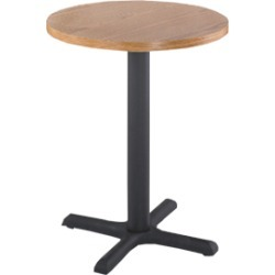 Alston 24 inch Round Table Top with Laminated Black Cast Iron Base 30 inchH x 22 inch x 22 inch