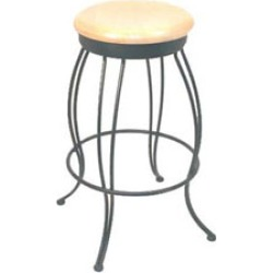 Holland Wrought Iron Swivel Bar Stool 25 inch with Fabric Seat found on Bargain Bro India from Kitchen Source for $207.00