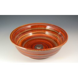 Vermont Art Sinks Underhill Handthrown Stoneware Sink, 15inch W x 4inch H, Camel, Shown in Carnival found on Bargain Bro India from Kitchen Source for $679.80