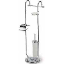 Free Standing Classic-Style 4-Function Bathroom Butler, Gold