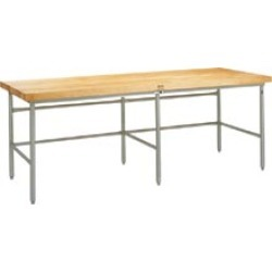 John Boos Bakers Production Table w/ Bin Stops & Guides, Galvanized Frame w/ Maple Top, 120W x 36D x 35?H found on Bargain Bro India from Kitchen Source for $841.41