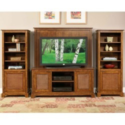 Home Styles Jamaican Bay 4-Piece Entertainment Center