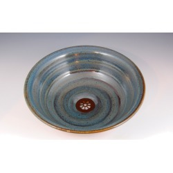 Vermont Art Sinks Florence Handthrown Stoneware Sink, 12inch W x 4inch H, Broken Blue found on Bargain Bro India from Kitchen Source for $484.10