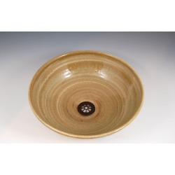 Vermont Art Sinks Delta Handthrown Stoneware Sink, 14inch W x 5-1/2inch H, Seaweed, Shown in Taupe found on Bargain Bro India from Kitchen Source for $535.60