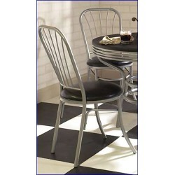 Home Styles Pair of Soda Shoppe Dinette Chairs in Black