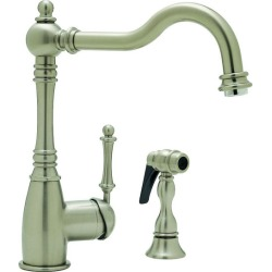 Blanco Grace Kitchen Faucet w/side spray, Stainless (Satin Nickel)