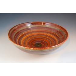 Vermont Art Sinks Sarefire Handthrown Stoneware Sink, 12-1/2inch W x 4inch H, Camel, Shown in Carnival found on Bargain Bro India from Kitchen Source for $463.50